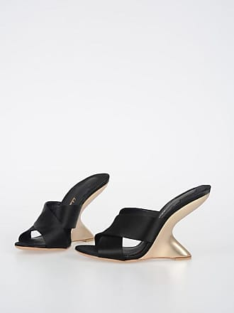 Salvatore Ferragamo 10cm Fabric ALCAMO Sandals size 6,5