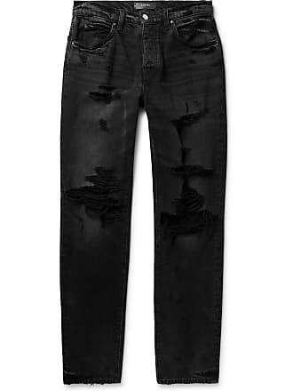 Amiri Distressed Stretch-denim Jeans - Black