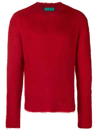 Paura Suéter liso de tricô - Vermelho