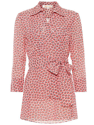 Diane Von Fürstenberg Printed cotton and silk blouse