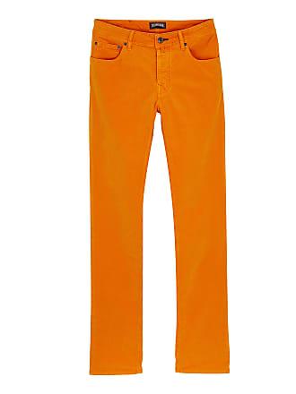 Vilebrequin Men Ready to Wear - Men regular fit velvet pants - JEANS - GBETTA18 - Orange - 36 - Vilebrequin