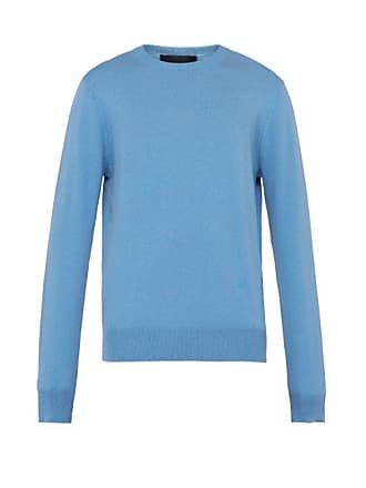 Stella McCartney Stella Mccartney - Crew Neck Cashmere And Wool Blend Sweater - Mens - Blue