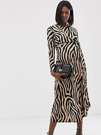 a91a05df0756 Asos Maternity ASOS DESIGN Maternity tie waist maxi dress in animal print