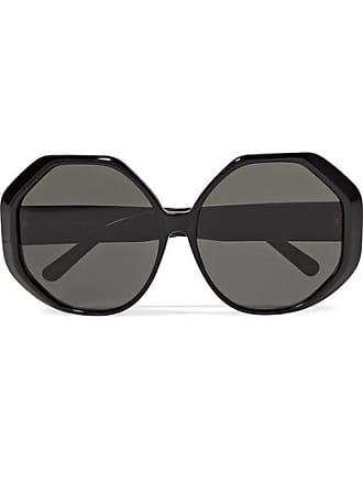 7d1ac054bc5 Linda Farrow Oversized Round-frame Acetate Sunglasses - Black