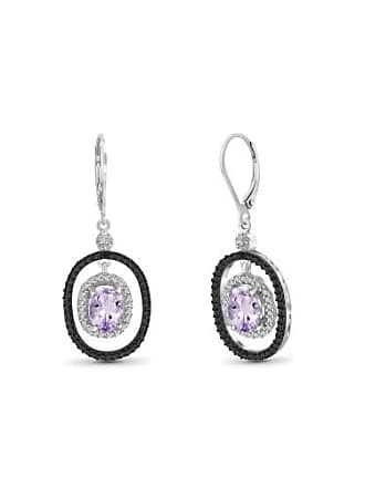 JewelersClub JewelersClub 2.18 Carat Pink Amethyst Gemstone and Accent White Diamond Earring