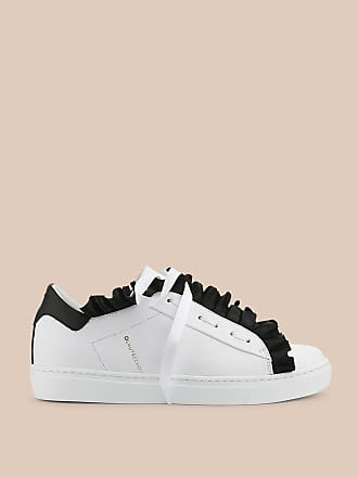 L'autre Chose LEATHER SNEAKER WITH FRILL TRIM