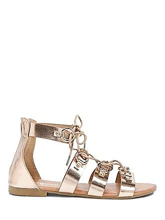 Forever 21 Forever 21 Faux Leather Gladiator Sandals Rose Gold
