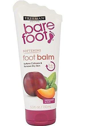 Freeman Bare Foot Softening Foot Balm, Peppermint & Plum 5.30 oz (Pack of 3)