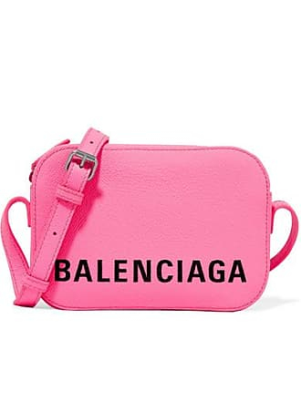 Balenciaga Ville Xs Aj Printed Textured-leather Shoulder Bag - Pink