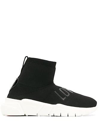 Love Moschino classic sock sneakers - Black
