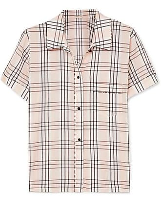 faef17abdde56 Morgan Lane Tami Plaid Seersucker Pajama Shirt - Blush