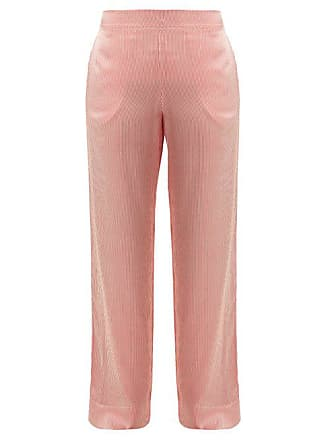 6fa1e15fcb Asceno Striped Sandwashed Silk Pyjama Trousers - Womens - Red Stripe