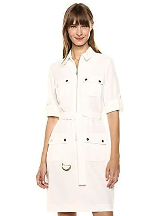 Sharagano Womens Shirt Dress, Ivory, 10