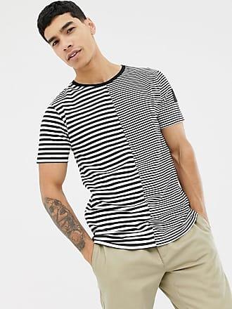 Hype t-shirt with stripe print-Black