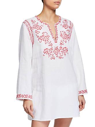 938fd1f28e88e2 Johnny Was Azalea Embroidered Linen Long-Sleeve Tunic