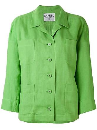 Chanel loose-fit blazer - Green