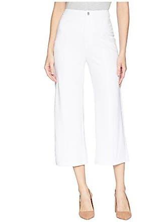 Lyssé Womens Jackie Wide Leg Ponte Crop Trouser, White, XS