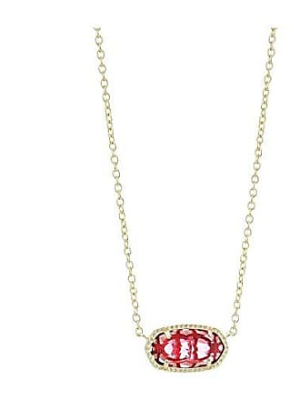 Kendra Scott Elisa Birthstone Necklace (January/Gold/Berry Clear Glass) Necklace