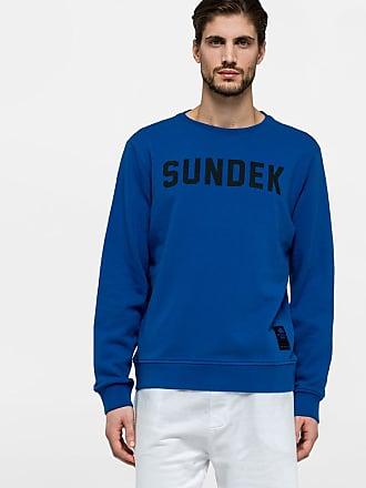 Sundek scoop neck sweatshirt with sundek print