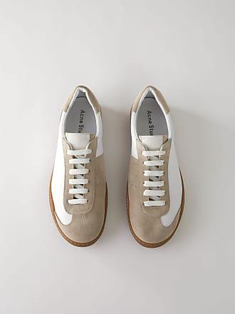 a4e8735126979b Acne Studios Lars Leather Weiß Minimalistische Sneakers