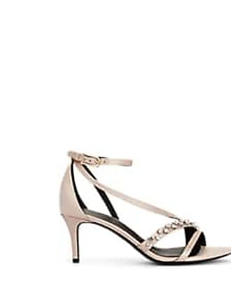 2ce094801f95 Stella Luna Womens Crystal-Embellished Satin Sandals - Beige