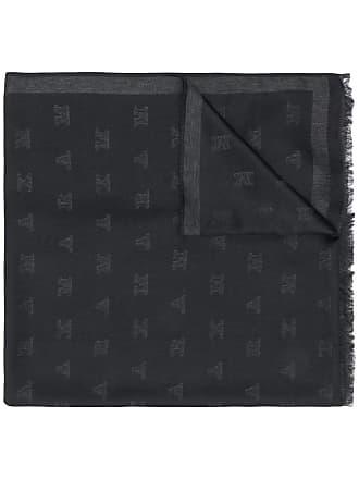 Max Mara monogrammed jacquard scarf - Preto