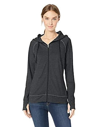 Amazon Essentials Womens Brushed Tech Stretch Full-Zip Hoodie, Black Space dye, XX-Large