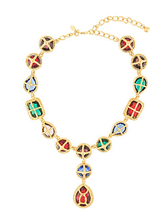 Kenneth Jay Lane gemstones necklace - Dourado