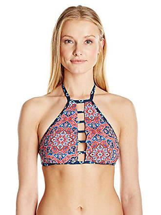 9d5745aa0e2c Lucky Brand Juniors Festival Medallion Reversible High Neck Bikini Top,  Multi, S