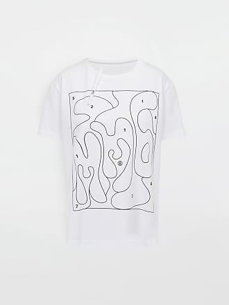 cb48376e4f Maison Margiela Mm6 By Maison Margiela Short Sleeve T-shirt White Cotton