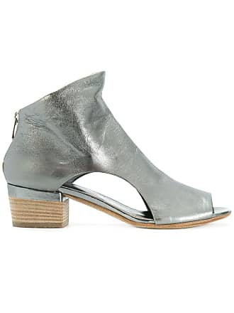 Officine Creative open toe cut out sides ankle boots - Grey