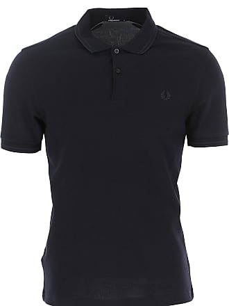 5dda85a84fe9 Fred Perry Polo Shirt for Men, Dark Blue Navy, Cotton, 2017, L M S