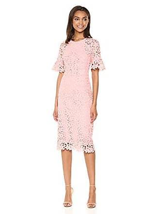 Shoshanna Womens Alberti Short-Sleeve Sheath Dress, Dark Blush, 6