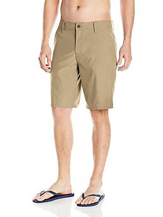 O'Neill Mens 21 Inch Outseam Hybrid Stretch Walk Short, Heather Khaki, 30