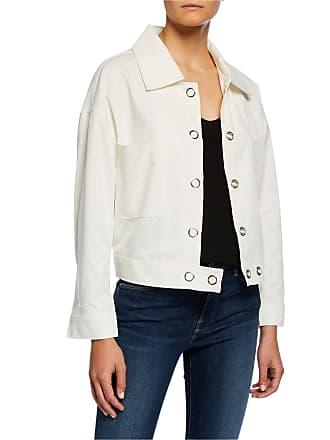 Neiman Marcus Grommet Detail Snap Jacket