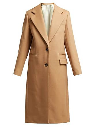 Joseph Magnus Single Breasted Wool Blend Coat - Womens - Camel