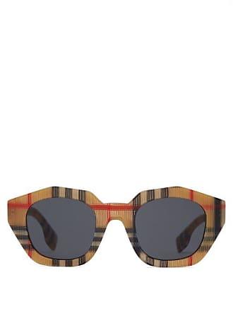 76ef1c99722 Burberry Lunettes de soleil ovales angulaires Vintage check
