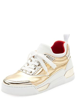 c2313c10589d Christian Louboutin Aurelien Womens Multimedia Metallic Low-Top Sneakers