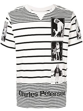 TAKAHIROMIYASHITA TheSoloist. Camiseta com estampa fotográfica listrada - Branco