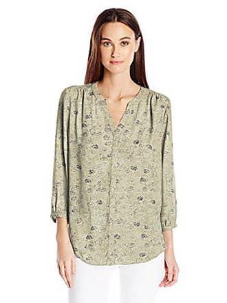 NYDJ Womens 3/4 Sleeve Pintuck Top, Vintage Kimono Sugar, xx-SMAL