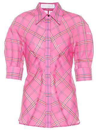 Victoria Beckham Checked cotton and silk shirt