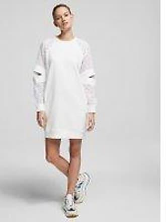 Karl Lagerfeld CUT-OUT LACE-SLEEVE SWEATSHIRT DRESS