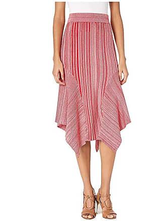 Yigal AzrouËl Melange Knit Skirt (Crimson Multi) Womens Skirt
