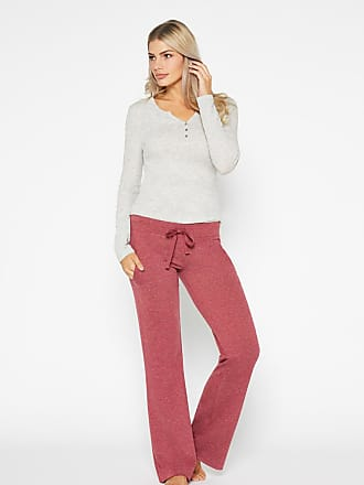 Alloy Apparel French Terry Boyfriend Pants for Tall Women Heather Burgundy Size XL/32 - Rayon