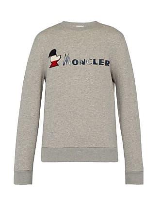 64dd4659f33 Moncler Sweat-shirt en coton bouclé à appliqué logo