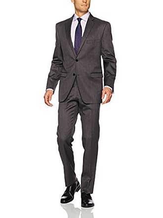 U.S.Polo Association Mens Wool Suit, Neat Grey, 38 Regular