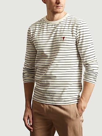Ami Ecru Freund des Herzens Baumwolle T-Shirt - medium | cotton | ecru - Ecru