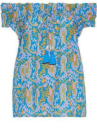 Figue Figue Woman Off-the-shoulder Printed Cotton-blend Gauze Top Multicolor Size M