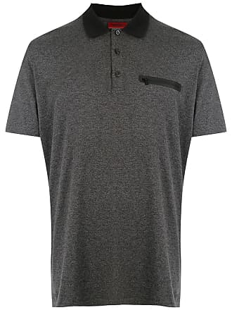 HUGO BOSS Camisa polo com bolso - Cinza