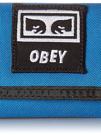 Obey Obey Mens Dropout TRI FOLD Wallet, Sky Blue, One size